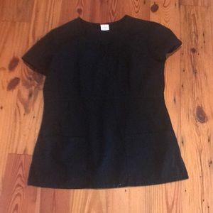 Black two pocket scrub top